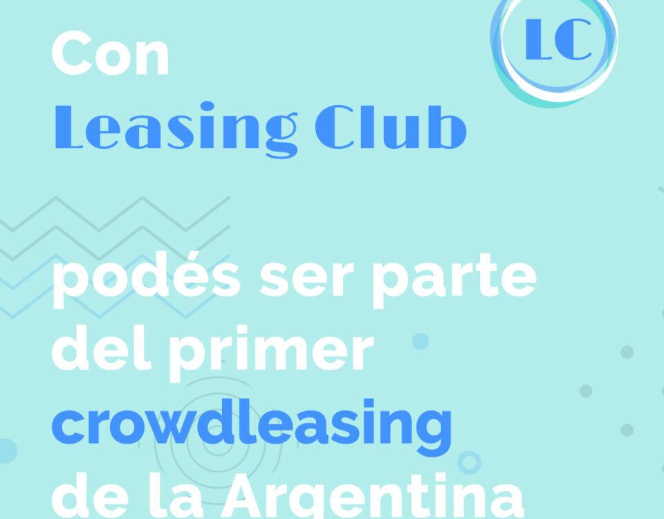 Sé parte del primer crowdleasing de la Argentina
